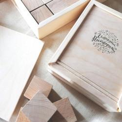 деревянные кубики без покрытия