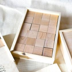 Кубики буковые в пенале 24 шт.