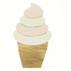 Экоигрушка из дерева мороженое