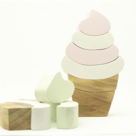 Деревянный балансир Мороженое