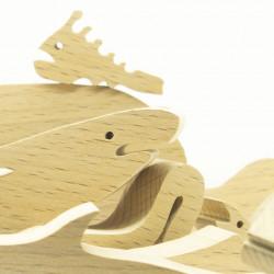 деревянные фигурки морских обитателей - пазл