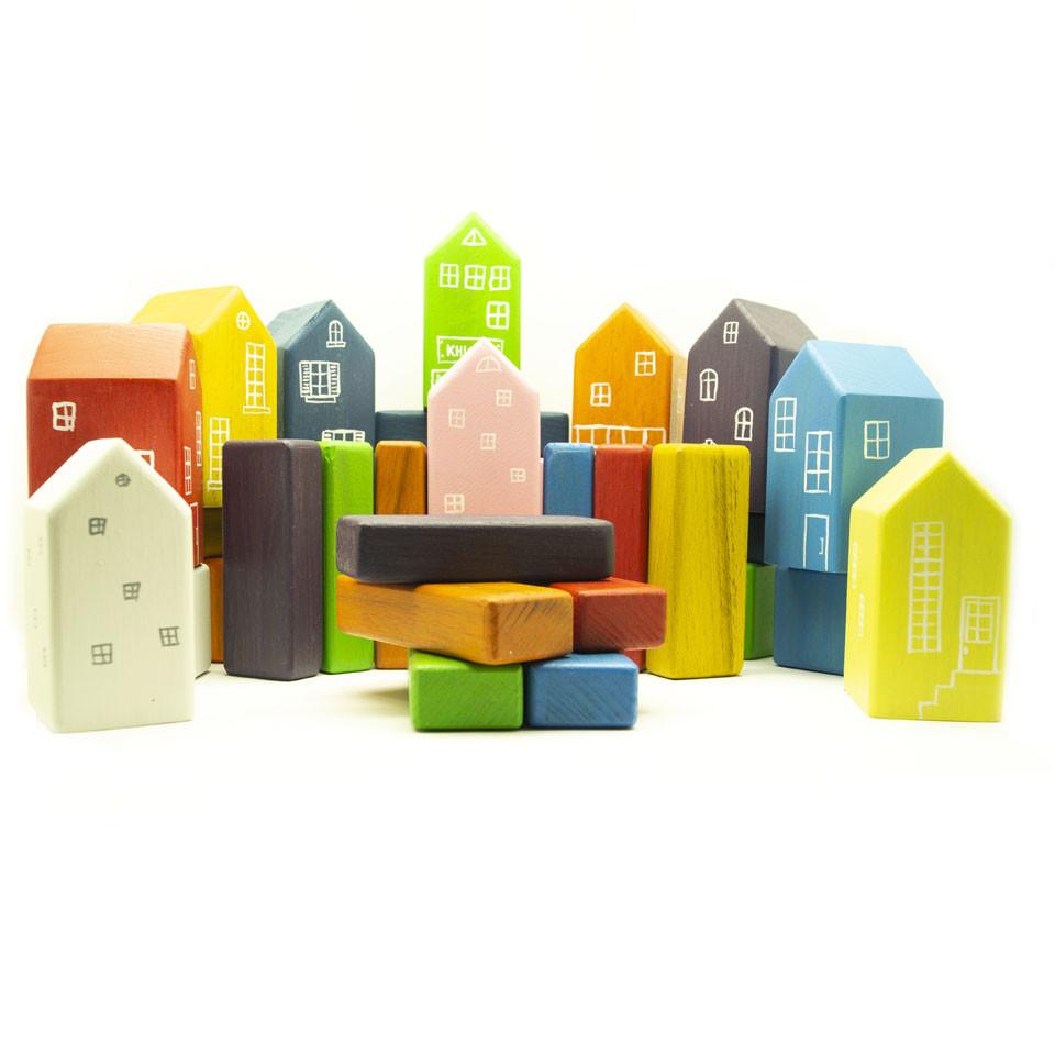 Набор деревянных кубиков Город
