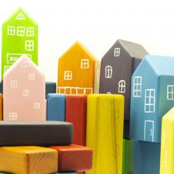 Деревянные кубики цветные для детей