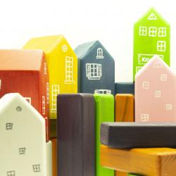 Детские кубики деревянные Город
