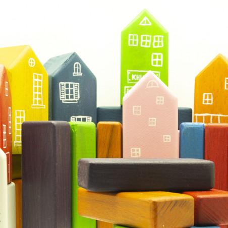 Игрушка деревянный набор кубиков Город
