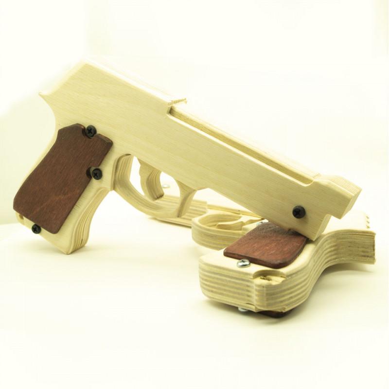 Резинкострел из фанеры Беретта