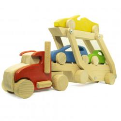 Автовоз из дерева с машинками