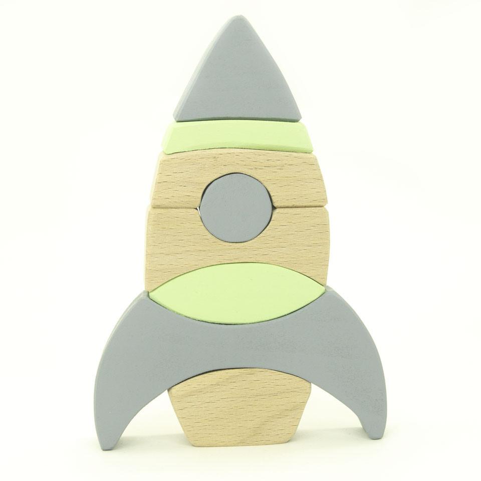 Пирамидка - стеккер из дерева