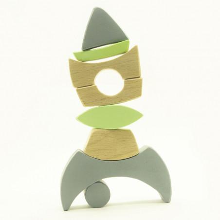 Развивающая игрушка из дерева Ракета
