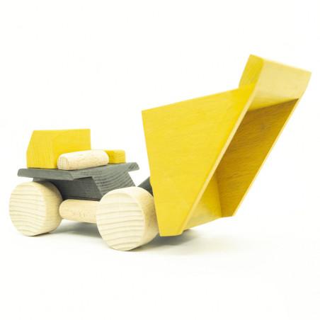 Карьерный желтый грузовик