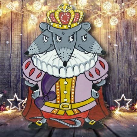 Король мышей новогодний подарок из дерева