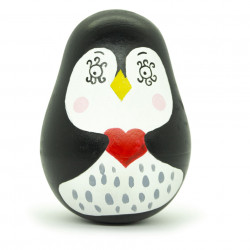 Деревянная неваляшка Пингвин
