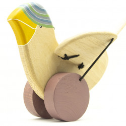 Птичка из дерева на палочке
