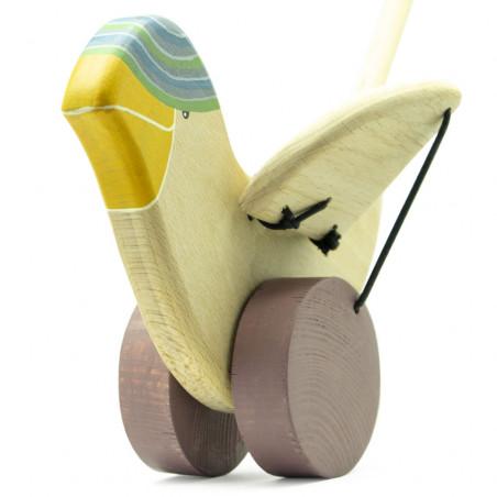 Деревянная игрушка птичка.
