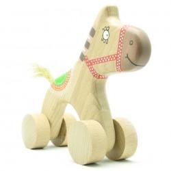 Лошадь - каталка из дерева