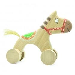 Деревянная лошадка каталка