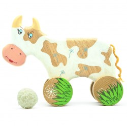 Корова на колесиках