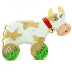 Деревянная корова с бубенчиком