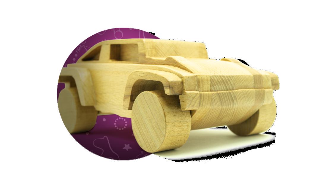 Машинки, паровозики и другая техника из дерева