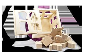 Развиваюшие игрушки из дерева